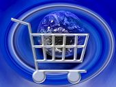 e-Commerce shopping Cart Globe www