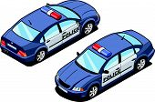 isometric image of a squad car