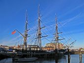 Boston - April 21: The Uss Constitution Is The World's Oldest Commissioned Naval Vessel Afloat Ancho