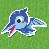 picture of pteranodon  - a cute happy dinosaur - JPG