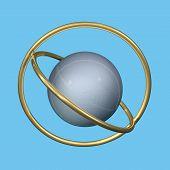Metal Sphere And Rings