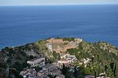 stock photo of messina  - View of Taormina - JPG
