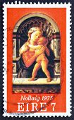 Postage stamp Ireland 1975 Madona and Child, by Fra Filippo Lipp