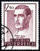 Selo postal Áustria 1957 Dr. Julius Wagner von Jauregg, Psychiatri