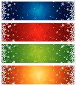 Color Christmas Banners