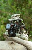 picture of gun shot wound  - Picture of paintball shooter aiming the target  - JPG