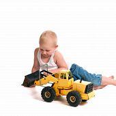 Cute Little Construction Worker