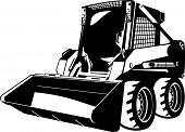 image of wheel loader  - A small skid loader - JPG