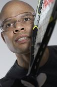 Portrait of man playing racquetball