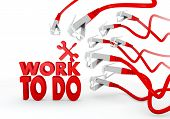 work to do symbol attacked by a cyber network