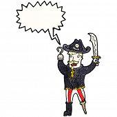 cartoon shouting pirate captain