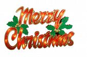 picture of merry christmas  - Photo of Merry Christmas Sign isolated on white backround
