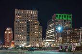 Providence, Rhode Island Skyline At Night