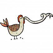 cartoon hen clucking