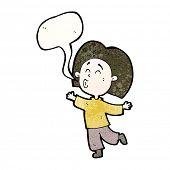 cartoon prancing person