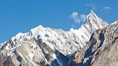 Jagged Mountain Ridge In The Karakorum Range