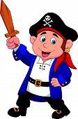 Pirate boy cartoon
