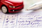 foto of car ride  - log book for a car - JPG