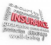 stock photo of insurance-policy  - The word Insurance and related terms such as safety - JPG