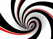 Black And Red Retro Swirl