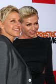 LOS ANGELES - APR 29:  Ellen DeGeneres, Portia DeRossi arrives at the