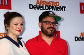 LOS ANGELES - APR 29:  Amber Tamblyn, David Cross arrives at the