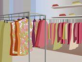 Vector Clothes In Shop