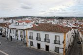 Colorful Houses Of Evora, Portugal