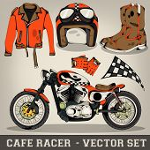 Cafe Racer Vector Set