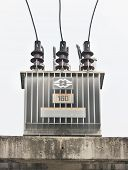 transformer on high power station.