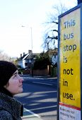Woman At Bus Stop