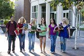 Students Walking - Horizontal