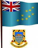 Tuvalu Wavy Flag