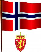 Svalbard Wavy Flag