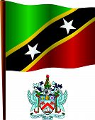 Saint Kitts And Nevis Wavy Flag