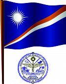 Ilhas Marshall bandeira ondulada