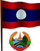 Laos Wavy Flag