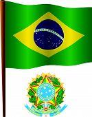 Brasil Wavy Flag