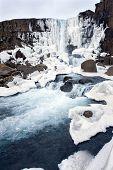 Cachoeira no Vale de Pingvellir