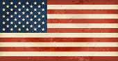 Vintage style flag of the United States of America. Grunge Elements give it an used and dirty feelin