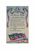 Old Freedom Pledge Postcard