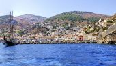 picture of hydra  - A view of the beautiful Greek island Hydra - JPG