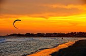 Kite Sail At Sunset