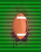 foto of stein  - illustration of football ball with grunge stein - JPG