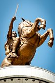 Statue of Alexander the Great in downtown of Skopje, Macedonia
