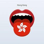 Hong Kong language. Abstract human tongue.