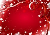 Vector red shine Christmas background
