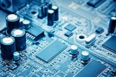 stock photo of circuits  - close - JPG
