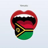 Vanuatu language. Abstract human tongue.
