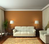 3D Render Classic Interior Of Living-room